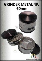 Grinder metal 4parties avec récupérateur (60mm)
