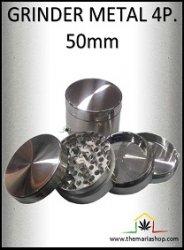 Grinder metal 4parties avec tamis (50mm)